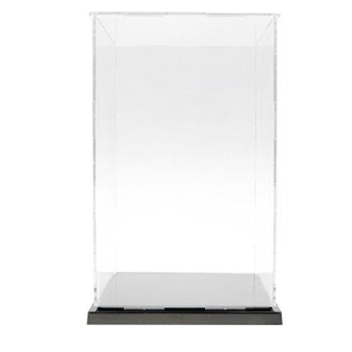 CUTICATE Vítrina de Acrílico Caja de Exhibición Transparente Expositor a Prueba de Polvo para Figura de Acción, Modelo 3D, Estatuas Coleciconable - 13x13x21cm
