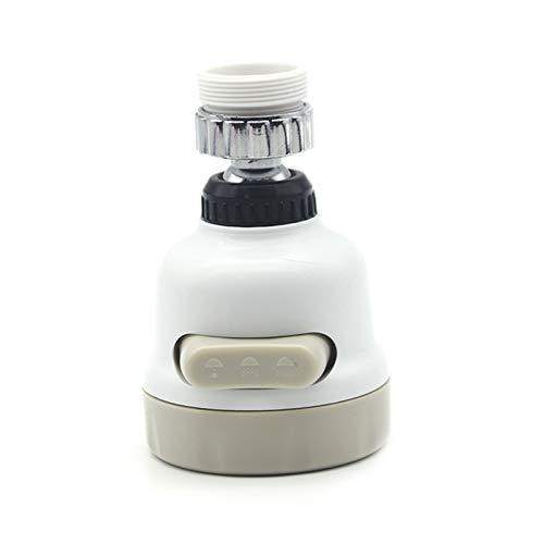 Juego de utensilios de cocina de silicona, utensilios de cocina antiadherentes, calor Girar 360 giratorio del grifo de cocina 3 modos ajustable Booster sobrealimentado de riego Tap difusor aireador Sú