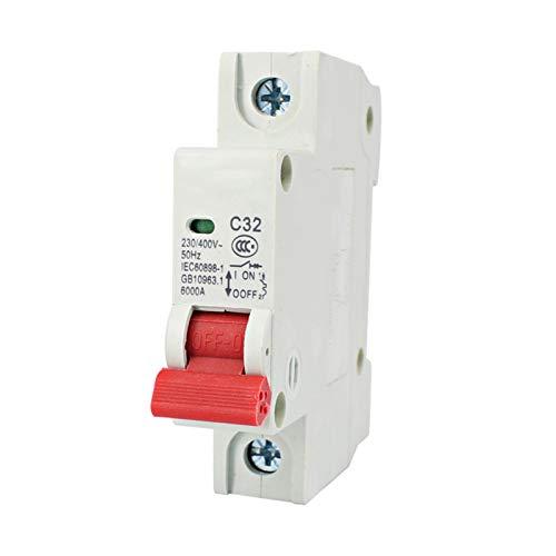 WANGYIYI Protector de Fugas Un Solo Polo Interruptor de Aire de Apagado doméstico 1P Pequeño Interruptor de Circuito Corto Circuito de Cortocircuito Interruptor de la casa Protector de sobrecarga
