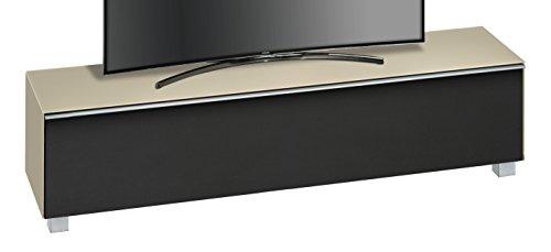 MAJA Möbel SOUNDCONCEPT Glass 7738 Soundboard, Abmessungen (BxHxT):180,20 x 43,30 x 42 cm, Glas Sand Matt-Akustikstoff Schwarz, 20 x 42 x 43,30 cm