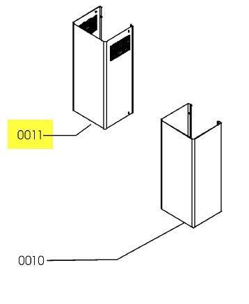 Dunstabzugshaube aus Edelstahl für Dunstabzugshaube Ikea – 481253048958