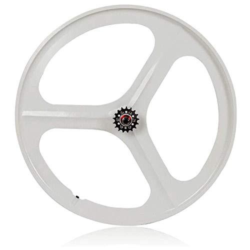 TYXTYX Ruota per Bicicletta, Ruote a Scatto Fisso 700C, Set di Ruote magnetiche per MTB da 26 Pollici, Cerchio a 3 Razze, velocità Singola, Anteriore, Posteriore, Fixie, Ruote per Bicicletta, Ruota