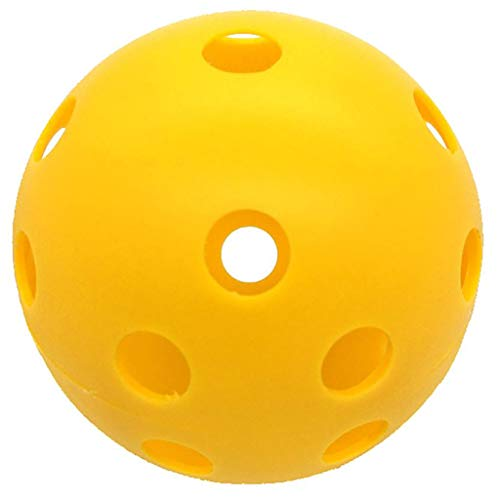 Een pak van 50 ballen indoor golfbal, licht gewicht en duurzaam plezier voor alle leeftijden holle ontwerp gele trainingsballen plastic luchtstroom hol met gat