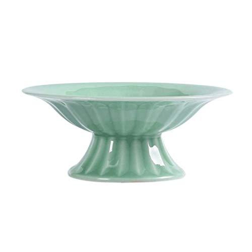 XZJJZ Placa de la Fruta Verde - Moderna Simple de cerámica Plato de Fruta Seca de Alta Home Plate Multiuso Decoración
