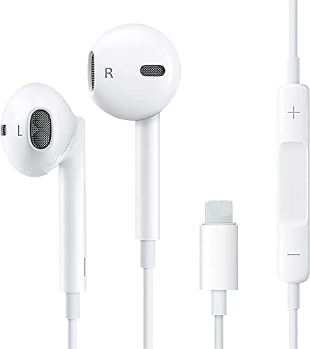 Earbuds Wired Headphones Noise Isolating Earphones Built-in Microphone and Volume Control Compatible with Apple iPhone/iPad/iPod Plug and Play