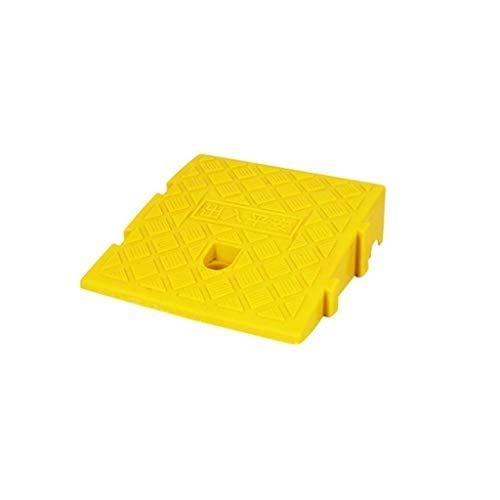 C-J-Xin Rampas Inicio umbral, Widen fácil de llevar silla de ruedas rampas 7-13CM plástico triangular Rampas, conveniente for los varios pasos rampas para perros ( Color : Yellow , Size : 25*27*13CM )