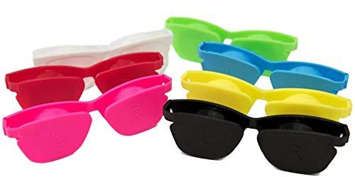 3 6 12er-Pack Kontaktlinsenbehälter Flip-Top Flache 3D-Sonnenbrille Niedlicher Linsenbehälter Design Tragbarer Reise-Mini-Kontaktlösungskasten Mehrwegbehälter Gemischte Farben von World Sports Vision