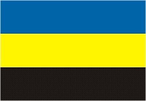 U24 Sticker Gelderland vlag vlag 8 x 5 cm autosticker sticker