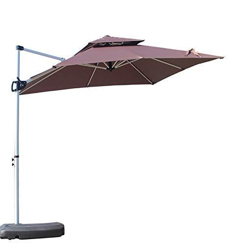 Sombrilla Parasol exterior Círculo cuadrado Sombrilla con soporte lateral en voladizo paraguas colgantes del paraguas con la inclinación fácil for el jardín del patio trasero cubierta de la piscina, c