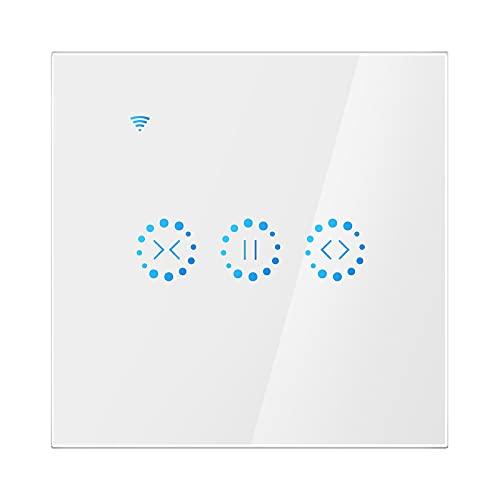 Interruptor de persianas eléctricas WiFi táctil, Compatible APP Control de voz de...