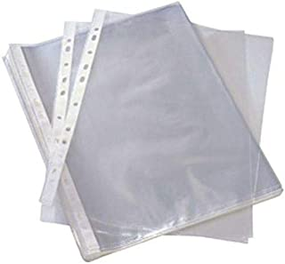 مجموعة ملفات بلاستيك، شفاف، 100 حبة