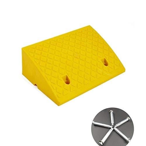 Z-W-Dong 17CM Coches con cuestas Pad, encintado plástico al Aire Libre Rampas Tornillo fácil de Instalar rampas for vehículos de Interior/Exterior Rampas