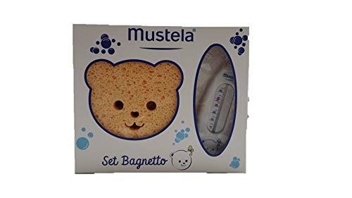 Mustela Cofanetto Set Bagnetto 1 Shampoo Dolce, 1 Bagnetto Millebolle, 1 Spugnetta e 1 Termometro - 400 ml