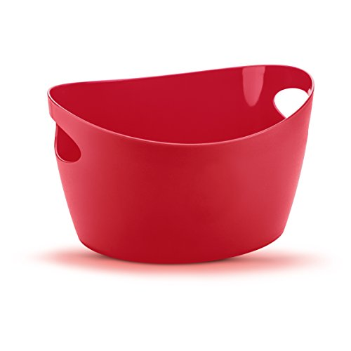 Koziol Bottichelli Panier de rangement, Rouge Framboise, 1,5 l
