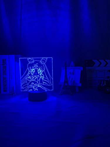 Mejor regalo de cumpleaños, día de San Valentín guerrero LED noche luz chica dormitorio decoración táctil sensor Rbb colorido noche luz anime personaje lámpara de mesa led erjie