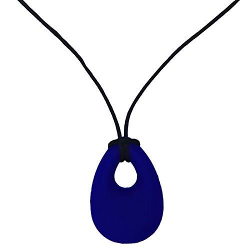 SkyBlue - Anillo de mordedor de silicona para bebés, para niños pequeños, collar para los dientes de la mampostería, ADHS, SPD, autismo y motor oral, entrenamiento para niños pequeños