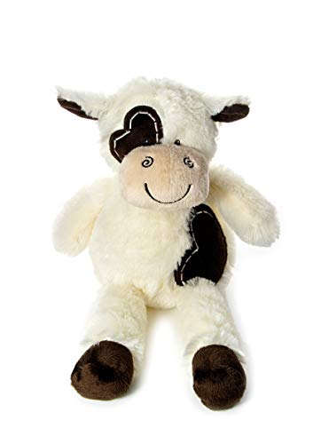 Mousehouse Gifts Animal en Peluche de Vache Marron et Creme Tres Douce de 36cm pour bébé ou Enfant