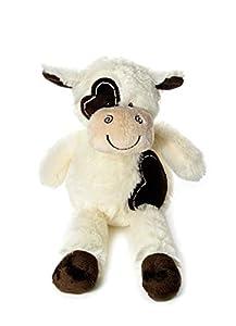 Mousehouse Gifts Juguetes Blandos Vaca de Peluche Muy Suave Color Crema y marrón de 36 cm