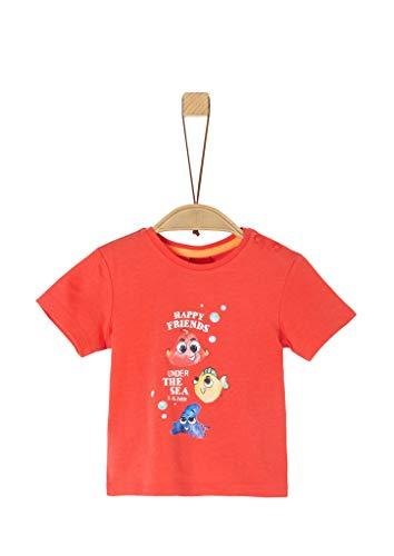 s.Oliver Junior Baby-Jungen 405.10.005.12.130.2037260 T-Shirt, 2590 red, 92