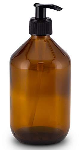Lifestyle Lover Seifenspender aus Braunglas, Bernsteinfarben für Seife Spüli Shampoo Lotionen Braun Glas 500ml