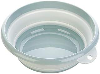 TT WARE Folding Washbasin Laundry Tub Outdoor Camping Portable Water Bucket Plastic Basin Footbath-Blue