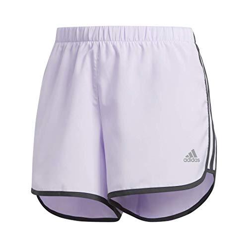adidas Marathon 20 Short Mujer Pantalones Cortos, Mujer, Pantalones Cortos, FRQ20, Tinte Morado/Gris, XXS