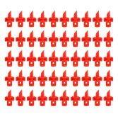 VIFERR Boquilla de Rociado, 180 ° / 360 ° Micro Duradero Jardín de Jardín Rociador de Agua Boquilla de Nebulización Sistema de Riego por Aspersión 50 Piezas (Color : Red(360°))