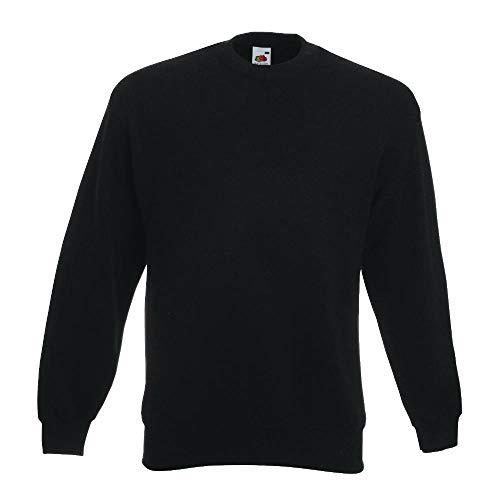 Fruit of the Loom - Set-In Sweatshirt - schwarz - Größe: L