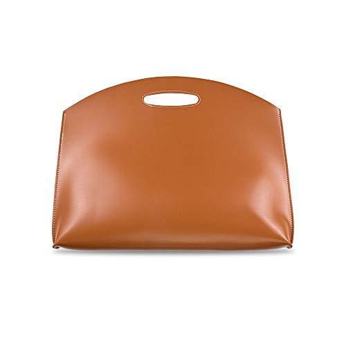 CostownsブリーフケースA4 大きめセカン ドバッグ メンズ レディース バッグ 手持ち バッグ A4サイズ 15インチ ipadpro 収納可 ビジネス 封筒袋 資料ケース ct-07 (ブラウン)