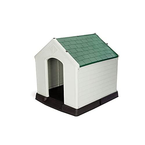 Gardiun KZT1003 - Caseta de Perro Zeus Maxi Resina Beige/Verde 96x105x98 cm