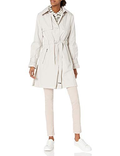KARL LAGERFELD Paris Damen Anorak Trench Coat Trenchcoat, Meersalz, X-Small
