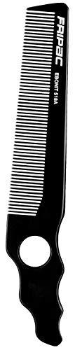 Fripac Profi-Clipperkamm 581A, Bartschneide-Kamm aus Naturkautschuk (antistatisch), für Scheren- und Maschinenschnitte, Länge 20.5 cm, schräge Form mit Loch-Griff, 30 g