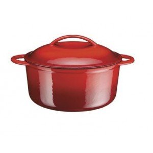 A.K TRADING Fonte COCOTTE B Ronde Rouge 21 CM 2.7 Code 9674