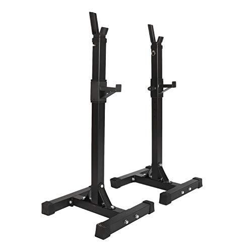 ybaymy Squat Rack - Supporto per bilanciere, portata massima 200 kg, colore: Nero