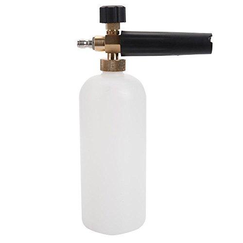 nuzamas Snow Schaumstoff Flasche für Auto waschen Hochdruck Waschmaschine Jet Wash 1/10,2cm Schnellverbinder Verstellbare Lanze Schaumstoff Cannon Schaumstoff Blaster