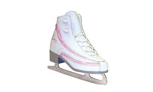 American Athletic Shoe Girls Soft Boot Ice Skates, White, 4