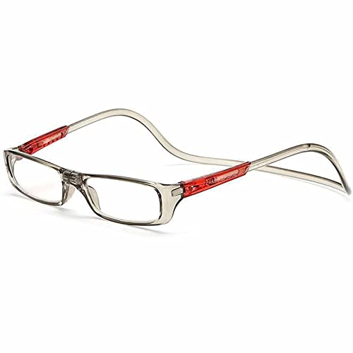 YSDQ Gafas de Lectura magnticas para Hombres y Mujeres, Gafas de Lectura Ajustables con Cuello Colgante Ayuda de Lectura TR