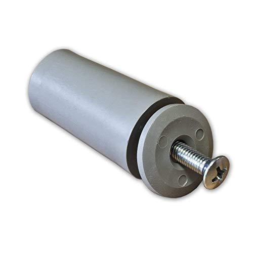 8 x Anschlagpuffer Stopper für Rollladen 40mm in grau