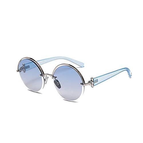 HDSJJD Ladies Hombres Polarizadas Gafas De Sol UV400 Anti-UV Glasses Gafas Redondas Tonos Retro Moda Gafas Al Aire Libre,A