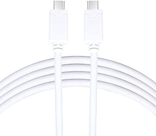 Brighton Vebner 6 Meter USB-C to USB-C 2.0 Cable - Charge Cable [2.9A] Compatible with MacBook Pro, iPad Pro/MacBook Air, Galaxy S9/S8/S20 Plus, Pixel 3/3XL/4a and Other Compatible Devices (White)