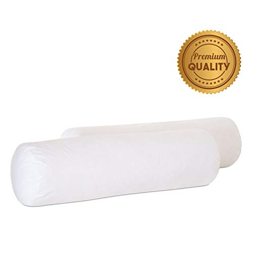 Why Choose Plankroad Home Décor 10Dx30 Hypoallergenic Luxury 100% Small Feather Round Bolster Pillo...