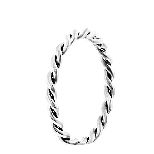 Gedrehter Ring aus 925 Silber, Bali - für Damen