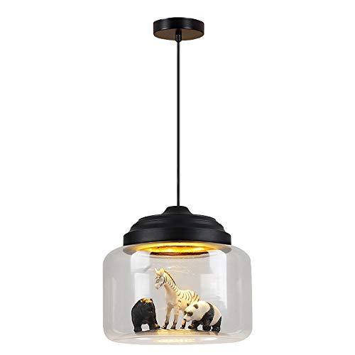 Kreative Kinder Tier Glas Pendelleuchte, Cartoon DIY Dekorative LED Kronleuchter, Decken Hängende Lampe Leuchte, Leuchte Für Mädchen Jungen Kinderzimmer Pendelleuchte
