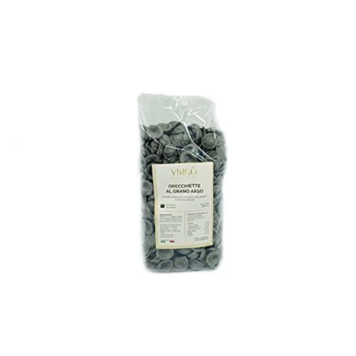 Virgò - Orecchiette al grano arso Pasta casereccia tipica Pugliese, prodotto artigianale italiano, Confezione da 500 gr