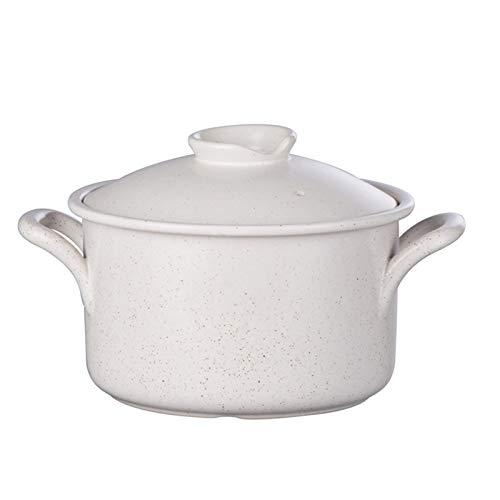 DJDLLZY Cazuela de cerámica de Olla sin paletas, ollas de asado de Cebolla de Olla de Tierra de Utensilios de Cocina Profunda. (Size : 3L)