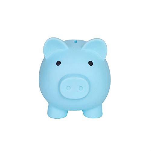 Cute Piggy Bank, Coin Bank for Boys and Girls, Children's Plastic Shatterproof Money Bank,Children's Toy Gift Savings Jar. (Blue)