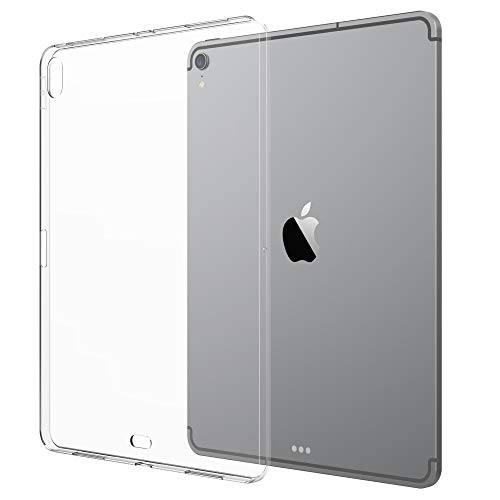 of tpu cases for ipads Luvvitt iPad Pro 11 Case Clarity Flexible TPU Slim and Light Back Cover for Apple iPad Pro 11 in 2018 - Clear (Updated Version)