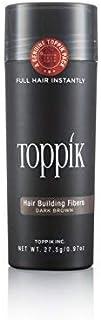 ألياف تكثيف وتعزيز نمو الشعر من توبيك - بني داكن، 27.5 غرام