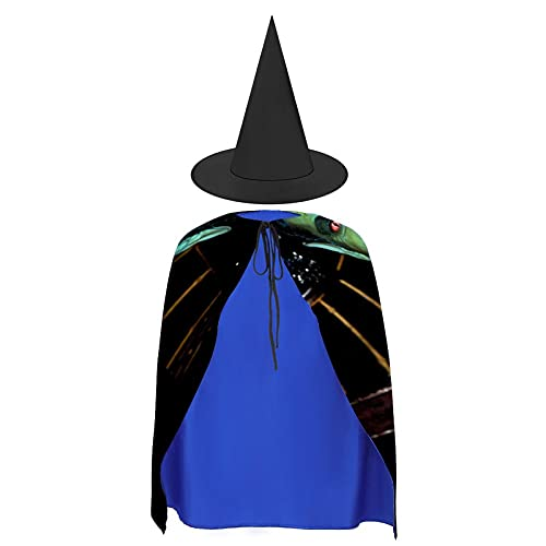 Halloween Cloak Suit Vampire Fangs Black Red (15) Cape With Hat, For Cosplay Festival Costumes Best Gifts For Boys Girls Kids Children