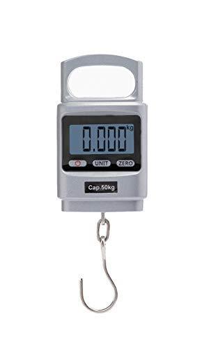 Hyindoor 50kg Bascula Colgante de Mano Dinamometro Digital Portable Peso de Maleta de Alta Precisión con Carcasa de Aluminio para Maletas, Pesca, Viaje